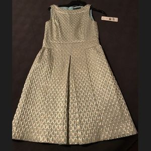 Ralph Lauren Mint and Gold dress